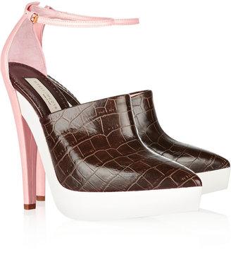 Stella McCartney Croc-effect faux leather pumps
