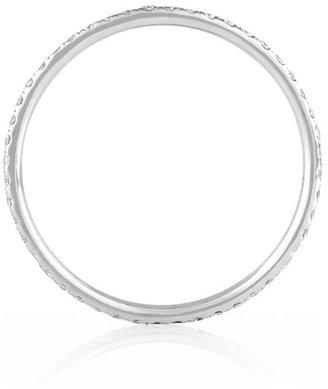 Ileana Makri Eternity Thread 18-karat white gold diamond ring