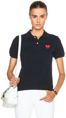 Comme des Garcons Cotton Polo with Red Emblem