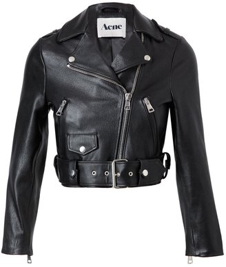 Acne 'Mape' leather motorcycle jacket