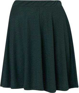 Topshop Green Speckle Skater Skirt
