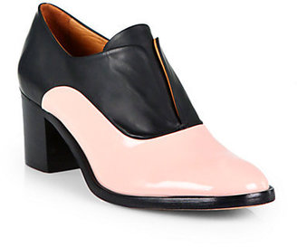 Reed Krakoff Patent Leather & Leather Laceless Oxfords