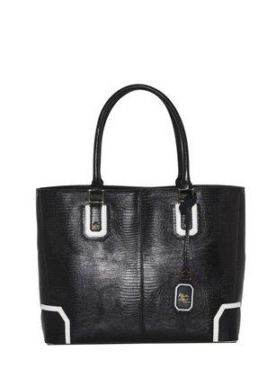 Alice + Olivia Lizard Embossed Leather D Tote Bag