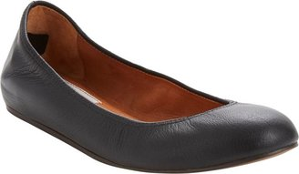 Lanvin Leather Ballet Flats-Black