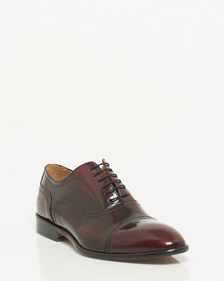 Le Château Italian-Made Leather Cap Toe Oxford