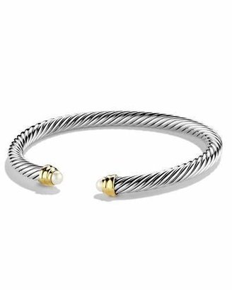 David Yurman 5mm Pearl Cable Classics Bracelet, Small $550 thestylecure.com