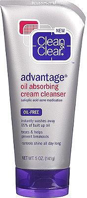 Clean & Clear Advantage Oil Absorbing Cream Cleanser