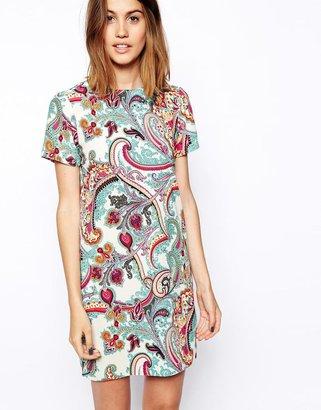 Asos Shift Dress in Pastel Paisley Print