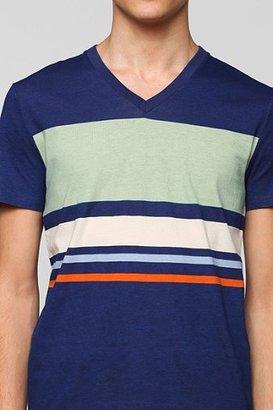 BDG Colorblock Stripe V-Neck Tee