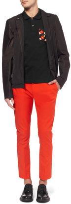 Raf Simons Slim-Fit Contrast-Pocket Cotton-Pique Polo Shirt