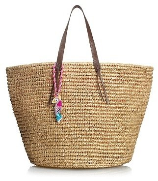 Juicy Couture Large Straw Beach Tote