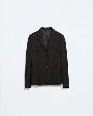 Zara Short Three-Button Blazer