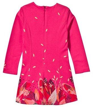 Catimini Pink Flower Print Jersey Dress