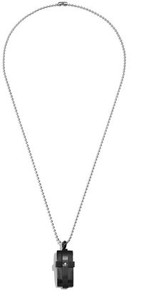 GUESS Ball-Chain Necklace With Cross Dog Tag