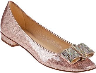 Kate Spade Niesha Skimmer Rose Gold Glitter