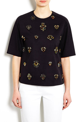 3.1 Phillip Lim All Eyes On You Crepe T-shirt