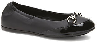 Gucci Girl's Leather Horse Bit Ballet Flats