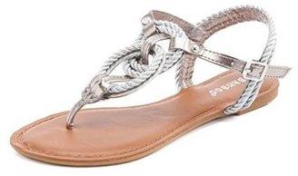 Charlotte Russe Looped Rope Flat Sandal