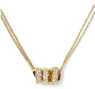 Michael Kors Brilliance Three Ring Double Chain Necklace