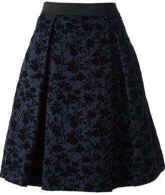 P.A.R.O.S.H. 'Floduch' devoré pleated skirt