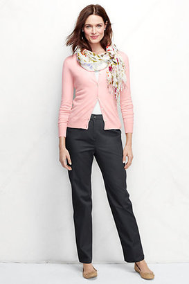 Lands' End Women's Regular Fit 3 7-Day Back-elastic Twill Pants