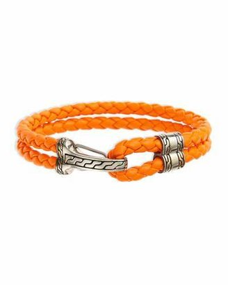 John Hardy Classic Chain Men's Hook-Station Bracelet, Orange $395 thestylecure.com