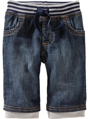 Old Navy Rib-Waist Pull-On Jeans for Baby