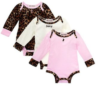 Juicy Couture Animal Printed 3 Pack Bodysuits