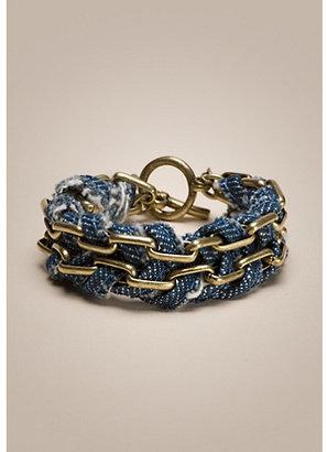 Lucky Brand Multi Media Chain Bracelet