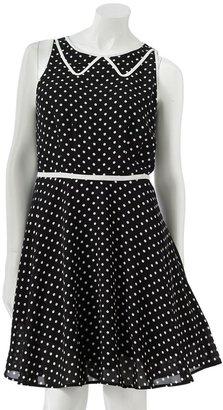 Lauren Conrad polka-dot chiffon dress