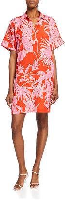 Aiko Floral-Print Short-Sleeve Dress
