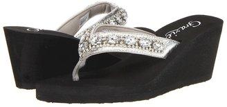 Grazie Verona (Silver) Women's Wedge Shoes