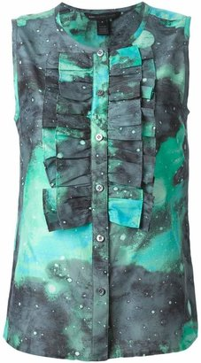 Marc By Marc Jacobs Stargazer ruffled bib sleeveless shirt