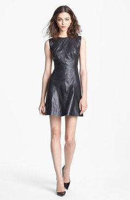 Nordstrom Miss Wu Leather Dress Exclusive)