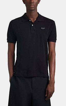 Comme des Garcons Men's Heart Cotton Piqué Polo Shirt - Black