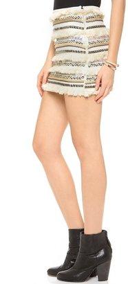 endless rose Fringe Mini Skirt