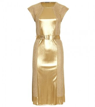 Bottega Veneta PANELED METALLIC DRESS