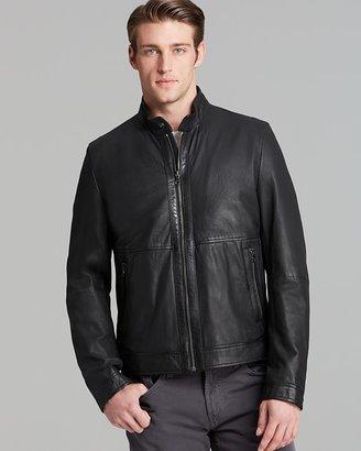 HUGO BOSS Gismo Short Leather Jacket