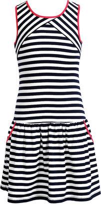 Sweet Heart Rose Girls' Striped Drop-Waist Dress
