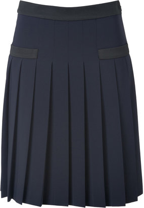 Moschino Pleated Skirt with Contrast Trim