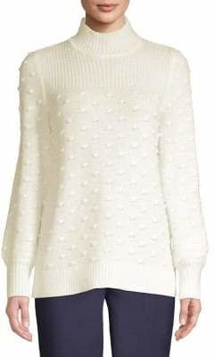 Calvin Klein Textured Polka Dot Sweater