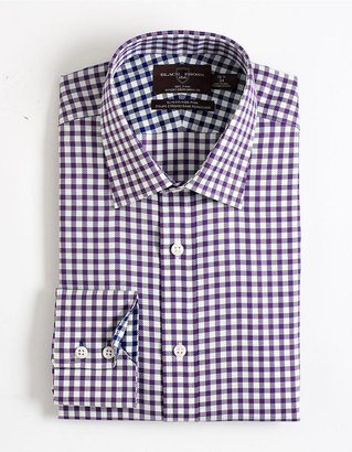 Black Brown 1826 Cotton Slim-Fit Non-Iron Dress Shirt
