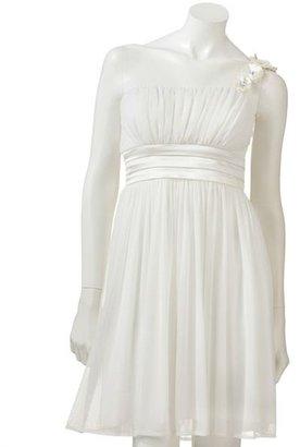 My Michelle floral asymmetrical dress - juniors