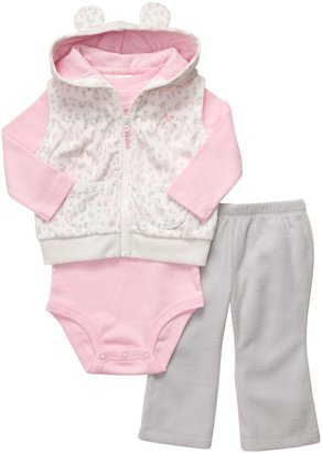 Carter's Micro Fleece 3 Pc Vest & Pant Set