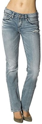 Silver Jeans Women's Suki High-Rise Baby Bootcut Jean $88 thestylecure.com