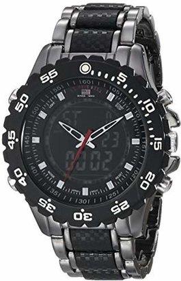 U.S. Polo Assn. Sport Men's US8170 and Gunmetal-Tone Bracelet Watch