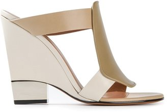Givenchy paneled wedge sandals