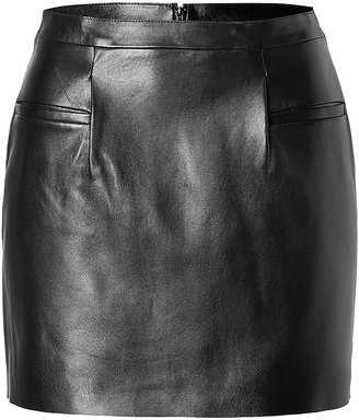 J.W.Anderson Leather Mini Skirt in Black