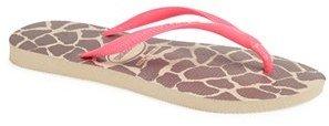 Havaianas 'Slim Fluorescent Animal' Sandal (Women)