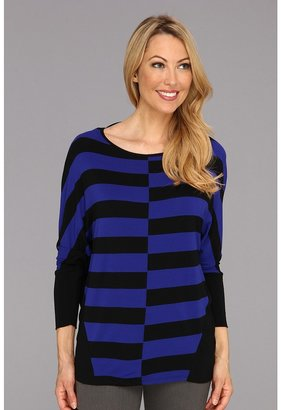 Vince Camuto TWO by Stripe Saturday Top (Ultramarine) - Apparel